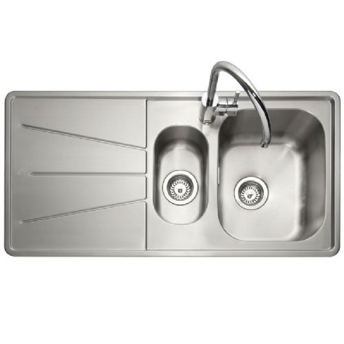 Caple Blaze 150 Inset Stainless Steel One and a Half Bowl Kitchen Sink